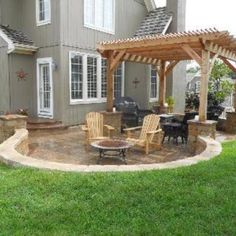 Notice how this patio and pergola combination project allows for multiple outdoor living areas for this Shawnee KS home. One area is partially covered with a pergola and the hardscape patio section is open to the sun.