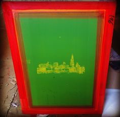 Pretty cool city skyline screen, can't wait to print this design!