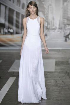 simple long white dress #minimalist #fashion #style