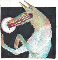 By the moon, wolves feed artwork Art Inspiration Drawing, Art Inspo, Arte Digital, Dark Art, Art Reference, Cool Art, Art Et Illustration, Concept Art, Fashion Art
