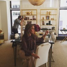 Shooting fall today in the NYC office @dereklamnyc fall florals