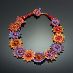 Galaxy Necklace #3 by Julie Powell (One of a Kind Beaded Necklace) | Artful Home