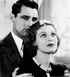 """Loretta Young and Cary Grant in """"Born to be Bad,"""" 1934"""