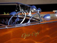 Chris Craft Classic Wooden Powerboat, Seattle Maritime Museum, Lake Union, Washington, USA