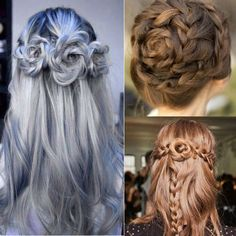 Romantic French braided flower hairstyles for long hair,Cute Hairstyles for School Days, which is your favorite