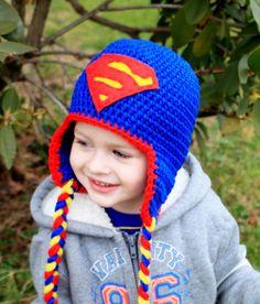 Crochet SuperHero hats BatmanSpiderManCaptain by KrazyHats1, $30.00
