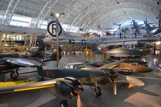 Steven F. Udvar-Hazy Center: View over World War Two aviation wing, including Japanese planes and B-29 Enola Gay | Flickr - Photo Sharing!