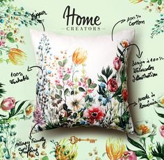 #homecreators #cristinacaramida #pillow #cushion #illustration