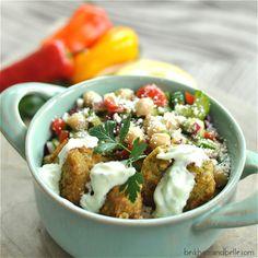 Falafel Rice Bowl and Tzatziki Sauce