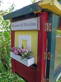 Little Free Libraries 057 | Flickr - Kerry Hill  House of Stories.  Love this. The window box is perfect. :)