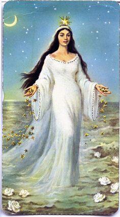 "IrelandLibrary's Photos : Photo Keywords : holy : Recto of card: ""La Diosa del Mar."" Yemaya, Afro-Caribbean sea goddess"