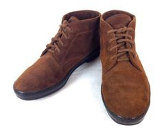 TODS-Shoes-SUEDE-Brown-ITALY-Lace-Up-ANKLE-Boots-CHUKKA-Womens-425-8-5-38-5