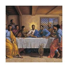Black Jesus Art Prints, Gifts and Collectibles Black Art Painting, Black Artwork, African American Artwork, Dark Art Photography, Black Jesus, Jesus Art, God Pictures, Amazing Pictures, Last Supper