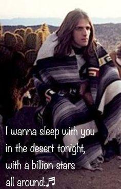 """""""Peaceful Easy Feeling."""" Glenn at Joshua Tree In the desert."""