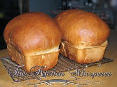 Wonderous White Bread ~ a classic, plain, old white loaves ~ just like the ones your Mother and Grandmother made!