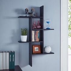 Shop for Danya B. Cantilever Wall Shelf - Black. Free Shipping on orders over $45 at Overstock.com - Your Online Home Decor Outlet Store! Get 5% in rewards with Club O! - 23233638