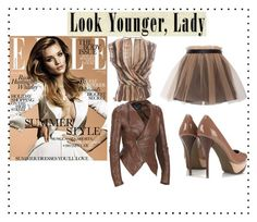 """""""Look'N Younger"""" by tsalagi ❤ liked on Polyvore featuring Black Rivet, Wallis, Yufash and Salvatore Ferragamo"""