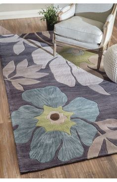 Rugs USA Amulet Floral TL05 Dark Grey Rug. Rugs USA Halloween Sale 75% Off! Area rug, rug, carpet, design, style, home decor, interior design, pattern, home interior,  trends, home, statement, fall,design, autumn, cozy, sale, discount, interiors, house, free shipping, Halloween, fall decorations, fall crafts, fall décor, great winter, winter, warm, furniture, chair, art.