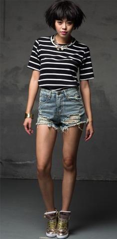 Tellusa Basic Shorts Womens High Stretched Zipper Denim Shorts Ladies High Waist Jeans Shorts Plus Size Shorts for Women