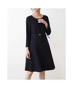 501ca871199cd  ナチュラル ビューティー ベーシック NATURAL BEAUTY BASIC の〈ウォッシャブル〉ジョーゼットフィット フレアワンピース レディースファッション・服の通販  ...