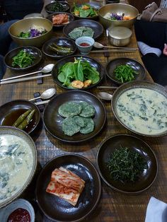 """Buddhist vegetarian dinner in Jeju   Known as the """"land of the morning calm,""""…"""