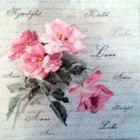 Servítka - Sagen - Vintage Ruže