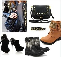 Dark-chic look e Boots Borchiati: stivali alla moda per Fashion Victim