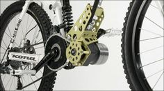 "Photo of the assist motor kit ""Ego-Kits"" electric driving at 70km per hour will be possible only attached to the bike"