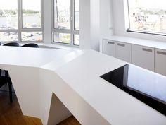 Modern Penthouse Design with establishment of HI-MACS ® Solid Surface