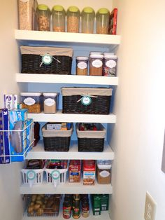Tiny organized apartment pantry from busy babes blog