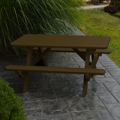 Outdoor A & L Furniture Yellow Pine Kids Picnic Table