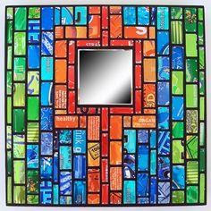 Recycled soda cans into mosaic art!
