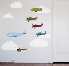 Fun wall decals for a little boy's bedroom.