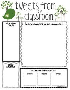 45 best preschool newsletter templates images on pinterest classroom newsletter templates maxwellsz