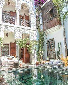 "1,782 Likes, 11 Comments - P.E.A.C.E. ❤ ☮ (@hippiegypsystyle) on Instagram: ""@Regrann from @cforclassy - • Beautiful Riad Yasmine in Marrakech •  • #riad #yasmine #marrakech…"""
