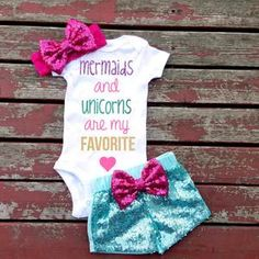 Baby Girl Outfit Happy Girls are the Prettiest Set Baby Mermaid, The Little Mermaid, Mermaid Disney, My Baby Girl, Baby Love, Baby Girl Fashion, Kids Fashion, Ladies Fashion, Fashion Images