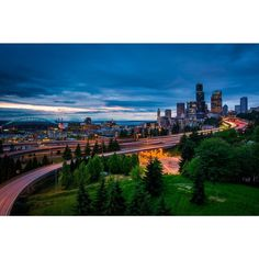 Noir Gallery View of the Seattle Skyline Fine Art Photo Print