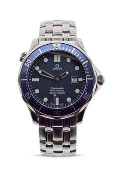 OMEGA Seamaster Quartz - Blue Dial - – WatchObsession Available now at Iwc, Breitling, Used Watches, Watches For Men, Seiko Diver, Omega Seamaster, Luxury Watches, Omega Watch, Quartz