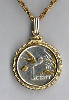 awesome Gorgeous 2-Toned  Gold and Silver Trinidad & Tobago Hummingbird  Coin - NecklacesGorgeous 2-Toned  Gold and Silver Trinidad & Tobago Hummingbird  Coin - Necklaces Check more at http://christmasshortstory.com/product/gorgeous-2-toned-gold-and-silver-trinidad-tobago-hummingbird-coin-necklaces/