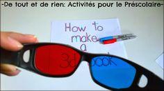 De tout et de rien: Activités pour le Préscolaire: How to make a 3D book or how does 3D work? Comment fonctionne le tridimensionnel ou comment créer un livre 3D!