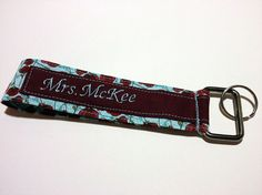 Personalized Key Wristlet  Poppies in a by artisticsouldesigns, $8.00