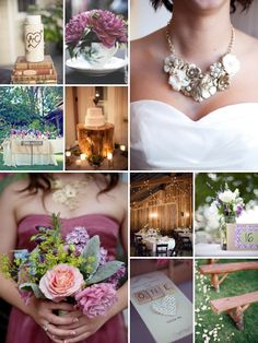 interesting ideas here: use of scrabble tiles, book print, and old books since Sarah is very literary; centerpieces of jars with informal clusters of flowers in them (imagine wildflowers to fit the wedding look so far? maybe see if these are easy to come by in florist shops in May? they probably are)