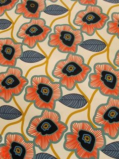 cool pattern for textiles Pretty Patterns, Beautiful Patterns, Color Patterns, Floral Patterns, Textile Prints, Textile Patterns, Textile Design, Lino Prints, Block Prints