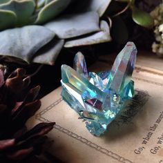 Apple Aura Crystal Quartz Cluster