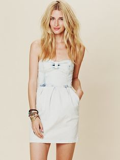 I have 4 dresses that look like this... But right now i fit in NONE!!!....  Free People Denim Tube Dress, $118.00