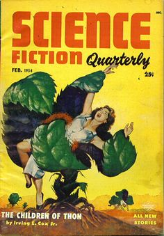 Science Fiction Quarterly was an American pulp science fiction magazine published from 1940 to and again from 1951 to This cover illustration was one of many great cover images for the pub Science Fiction Magazines, Pulp Fiction Book, Fiction Novels, Science Fiction Art, Pulp Magazine, Magazine Art, Magazine Covers, Sci Fi Books, Comic Books