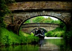 Riding the canal boats near Stoke-on-Trent, England
