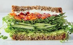 California Veggie Sandwich / Photo by Gentl & Hyers http://www.epicurious.com/recipes/food/views/california-veggie-sandwich