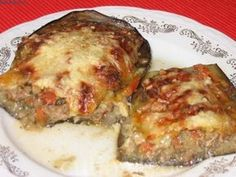 Vinete umplute cu carne tocata Lasagna, Ethnic Recipes, Food, Essen, Meals, Yemek, Lasagne, Eten