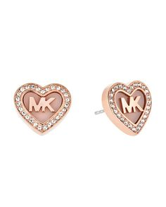 Michael Kors Mk Pave Heart Stud Earrings